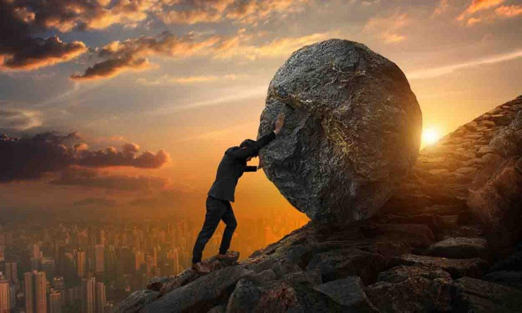 Inspiring image to show you big task is not done