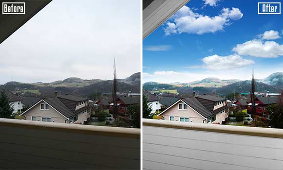 Real-estate-retouching