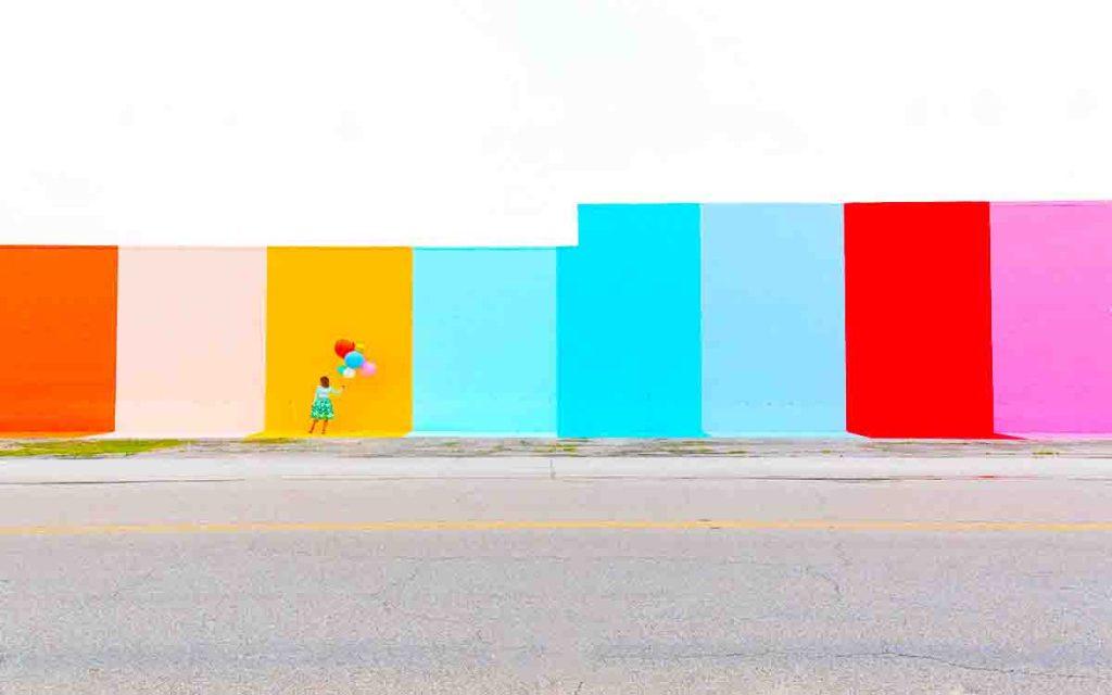 Sugar and cloth color wall photos